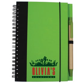 "Eco Hardcover Journal and Pen (5"" x 7"")"