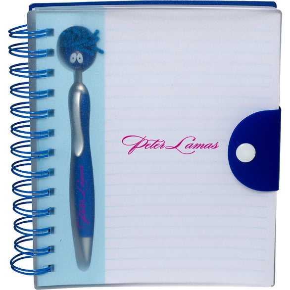 Blue Emoti MopToppers Pen and Notebook Set