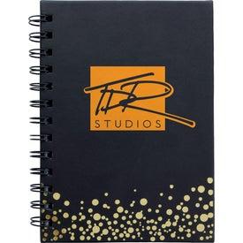 Metallic Dots Notebook