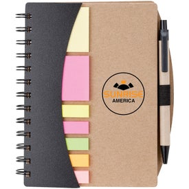Mini Journal with Pen, Flags and Sticky Notes (70 Sheets)