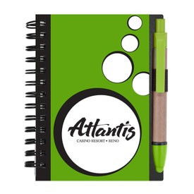 Logo Mini Spotlight Notebook and Stylus Pen with Sticky Notes