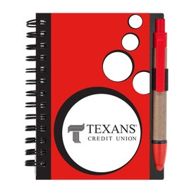 Branded Mini Spotlight Notebook and Stylus Pen with Sticky Notes