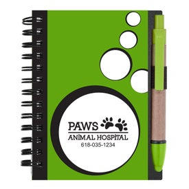 Personalized Mini Spotlight Notebook and Stylus with Pen
