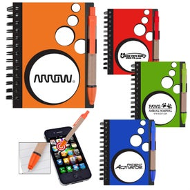 Mini Spotlight Notebook and Stylus with Pen Imprinted with Your Logo