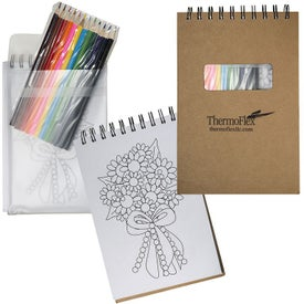 Notebook with Colored Pencils