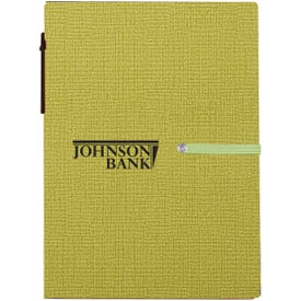 Notebook with Sticky Notes and Pen (35 Sheets)