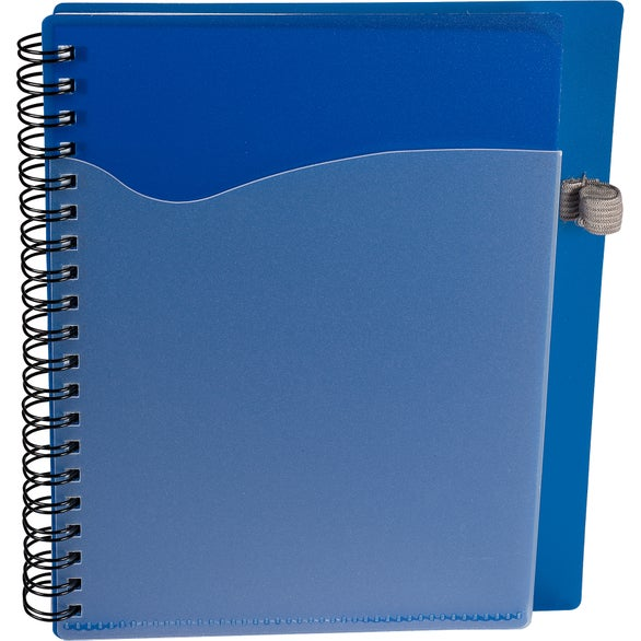 Reflex Blue PolyPro Notebook with Clear Front Pocket