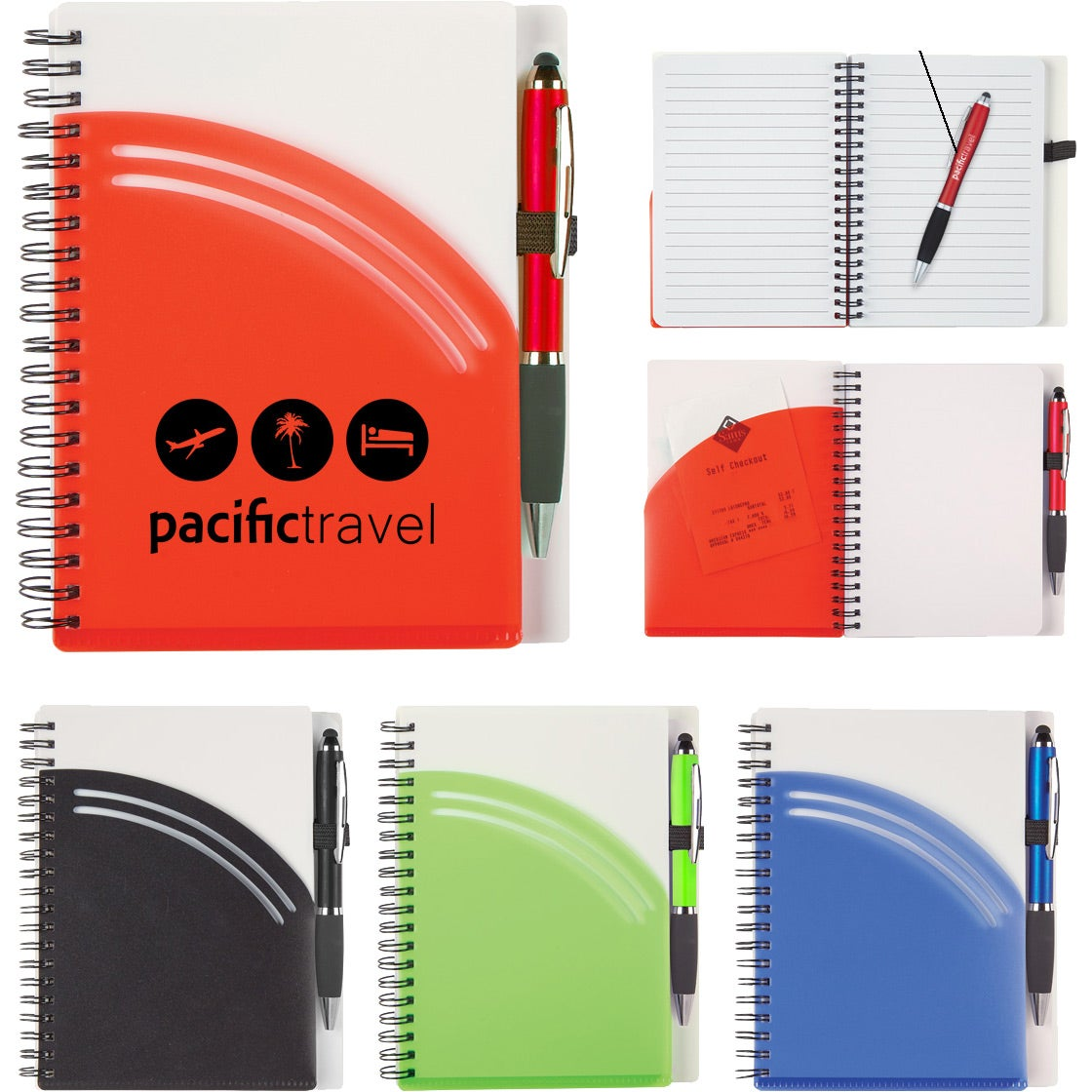 """Rainbow Spiral Notebook with Pen (5"""" x 7"""")"""
