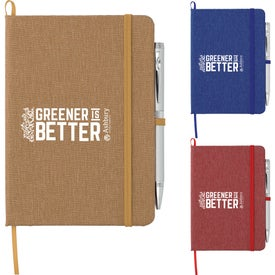 Recycled Cotton Bound Notebook (60 Sheets)