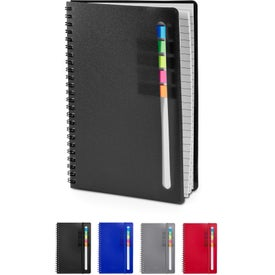 Semester Notebook with Sticky Flags (185 Sheets)