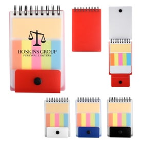 Spiral Jotter with Adhesive Notes and Flags
