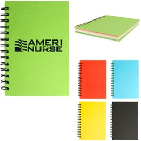 """Spiral Notebook With Colored Paper (5"""" x 7"""")"""