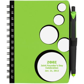 Personalized SpotLight Notebook and Stylus Pen