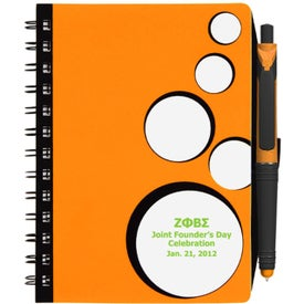 Branded SpotLight Notebook and Stylus Pen