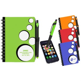 SpotLight Notebook and Stylus Pen for Your Company