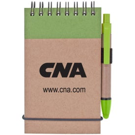 Printed Stylus and Recycled Notebook Combo