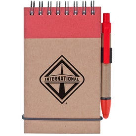 Monogrammed Stylus and Recycled Notebook Combo