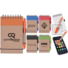 Branded Stylus and Recycled Notebook Combo