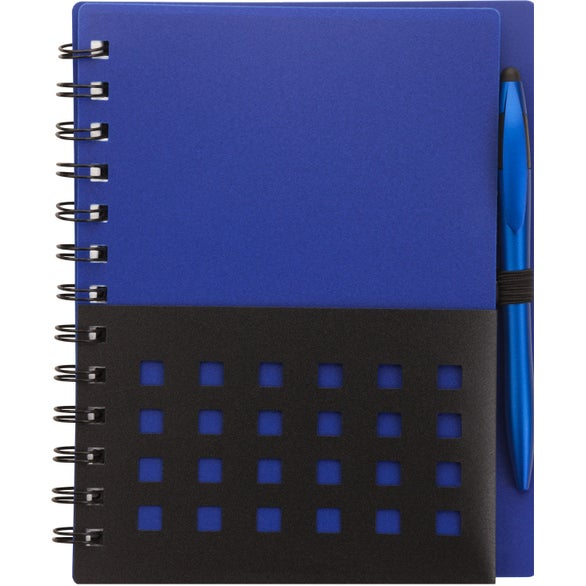 Blue / Black Tonga Junior Notebook and Stylus Pen