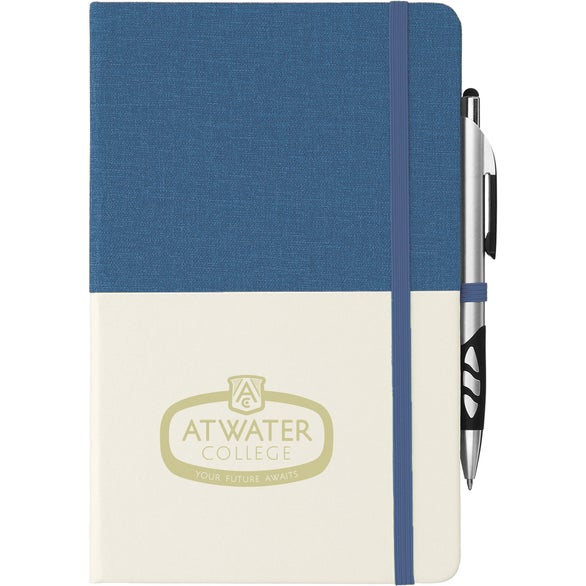 Royal Blue / Natural Two Tone Bound Notebook
