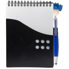 Two-Tone Jotter with MopToppers Stylus Pen