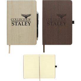 Woodgrain Look Notebooks (40 Sheets)