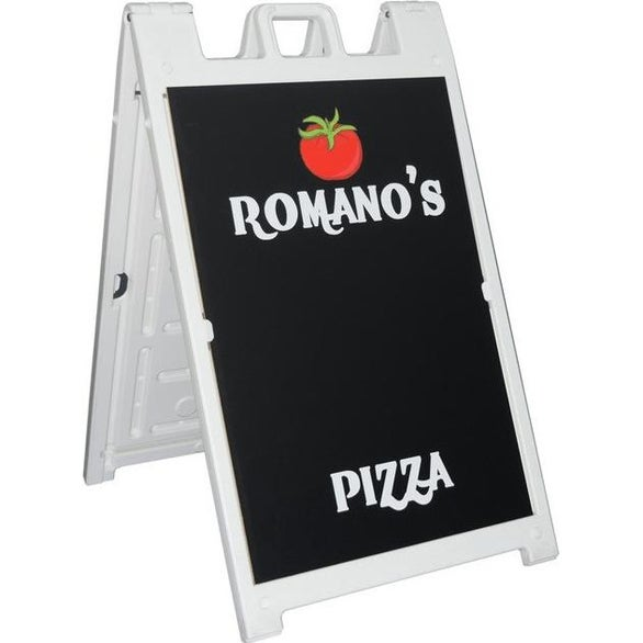 White / Black Signicade 1 Sided Chalkboard Kit