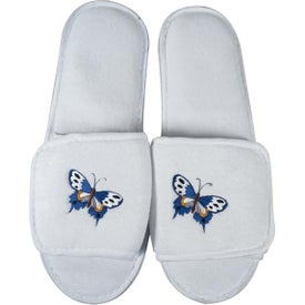 Plush Slippers with Velcro Opening