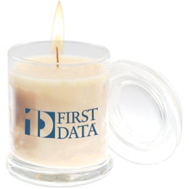 Aromatherapy Candle Jar with Glass Lid (12 Oz.)