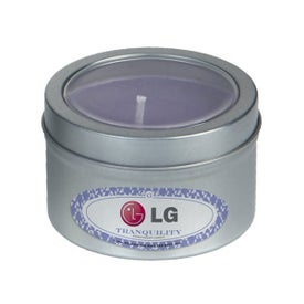 Essential Oil Infused Candle in Small Window Tin