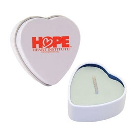 Heart Tin Candles