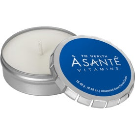 Scented Candle in Small Push Tin