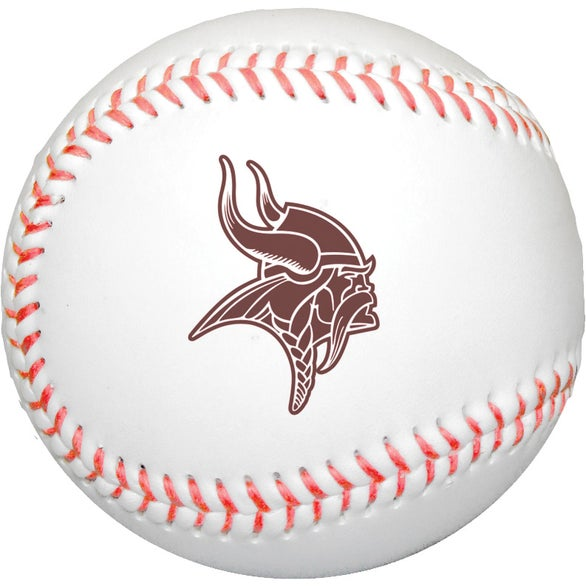 White Synthetic Leather Baseball with Rubber Core