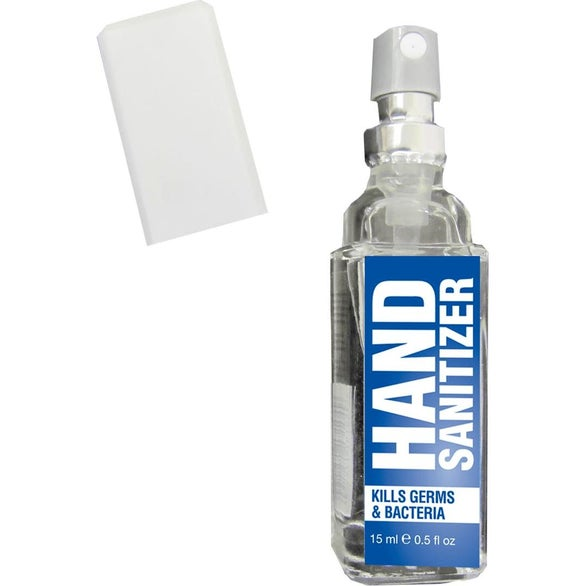 Clear / Blue Pocket Size Hand Sanitizer Spray