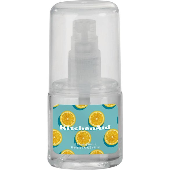Clear Unscented Clear Sanitizer Spray in Oval Bottle
