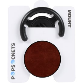 Vegan Leather PopSocket Grip Stand with Mount