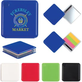 Sticky Flags Case with Pen and Mirror