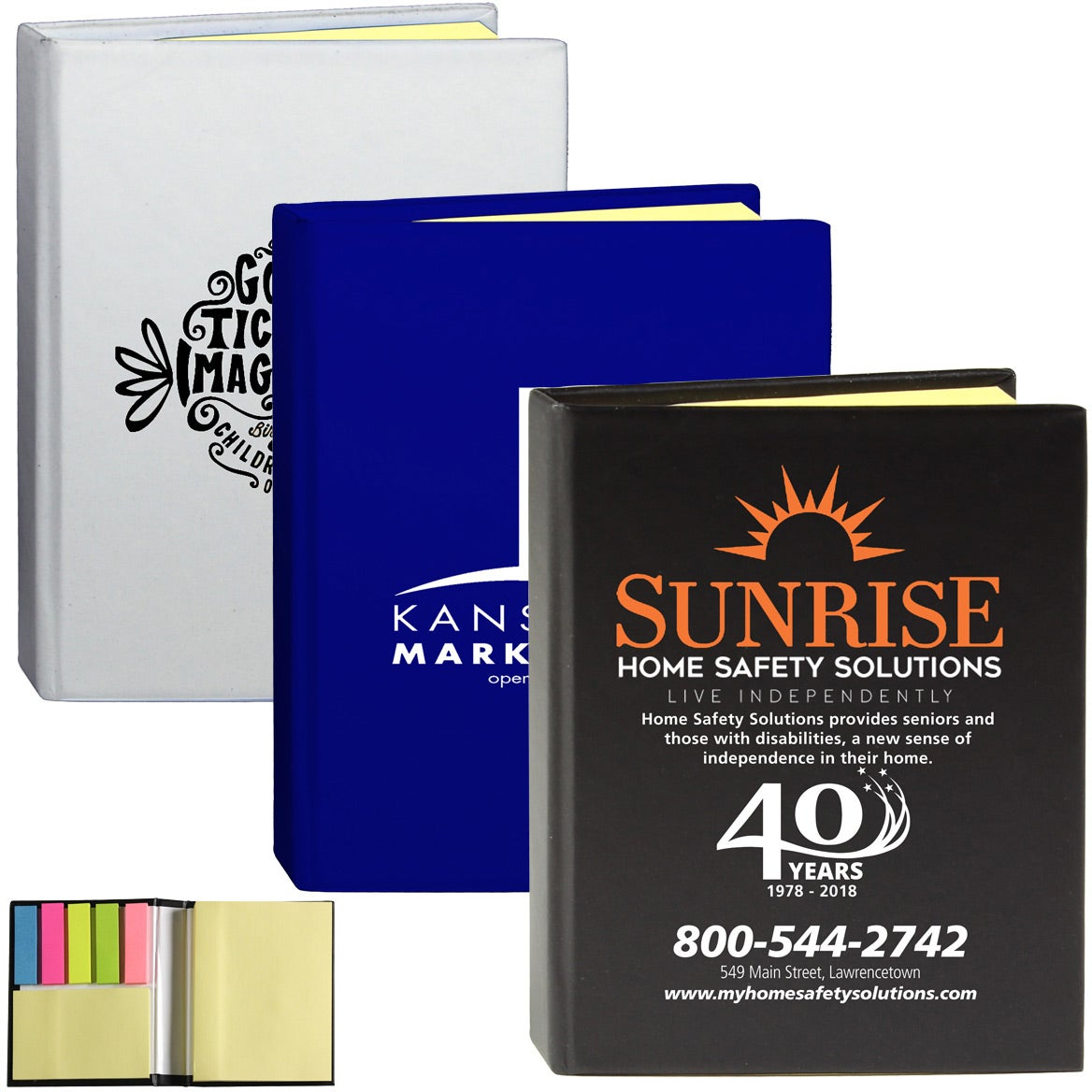 Eastvale Full Size Sticky Note Flags Notebook