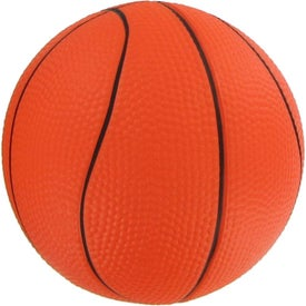 """Promotional 4 1/2"""" Basketball Stress Reliever"""
