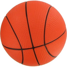 """Advertising 4 1/2"""" Basketball Stress Reliever"""