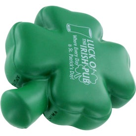 4-Leaf Clover Stress Ball Imprinted with Your Logo
