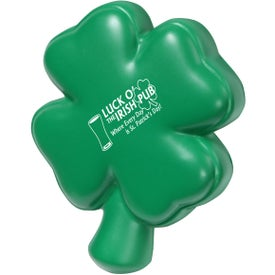 Custom 4-Leaf Clover Stress Ball