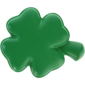 Imprinted 4-Leaf Clover Stress Ball