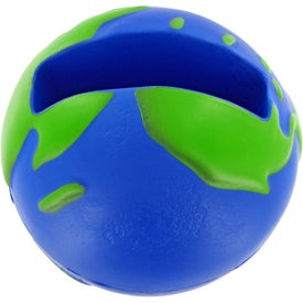 Custom Earthball Cell Phone Holder Stress Toy