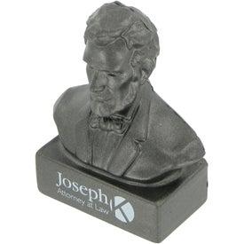 Imprinted Abraham Lincoln Bust Stress Ball