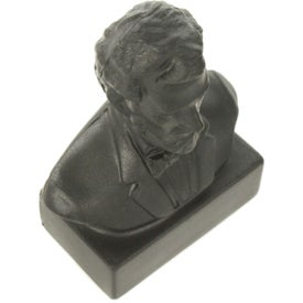 Abraham Lincoln Bust Stress Ball Branded with Your Logo