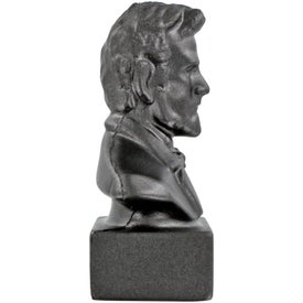 Branded Abraham Lincoln Bust Stress Ball