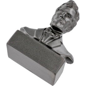 Customized Abraham Lincoln Bust Stress Ball