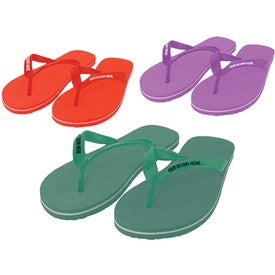 Adult Flip Flops Imprinted with Your Logo