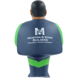 Custom African American Super Hero Stress Ball